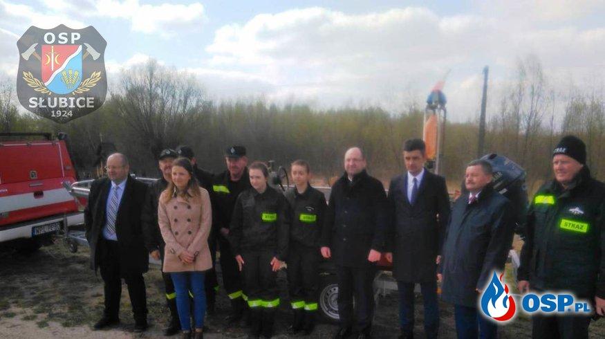 Wicemarszałek Senatu odwiedził Gminę Słubice OSP Ochotnicza Straż Pożarna