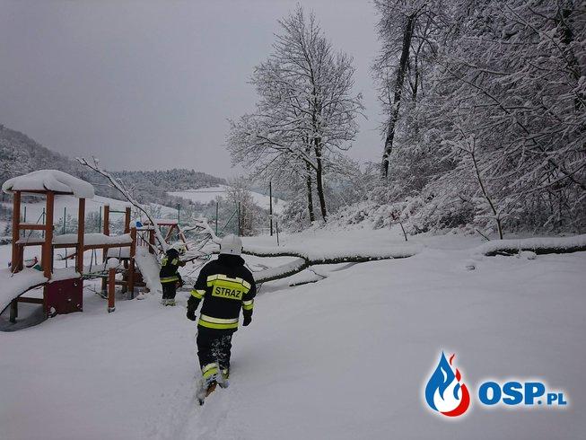 Śnieg nie daje za wygraną! Nasza młodzież również! OSP Ochotnicza Straż Pożarna