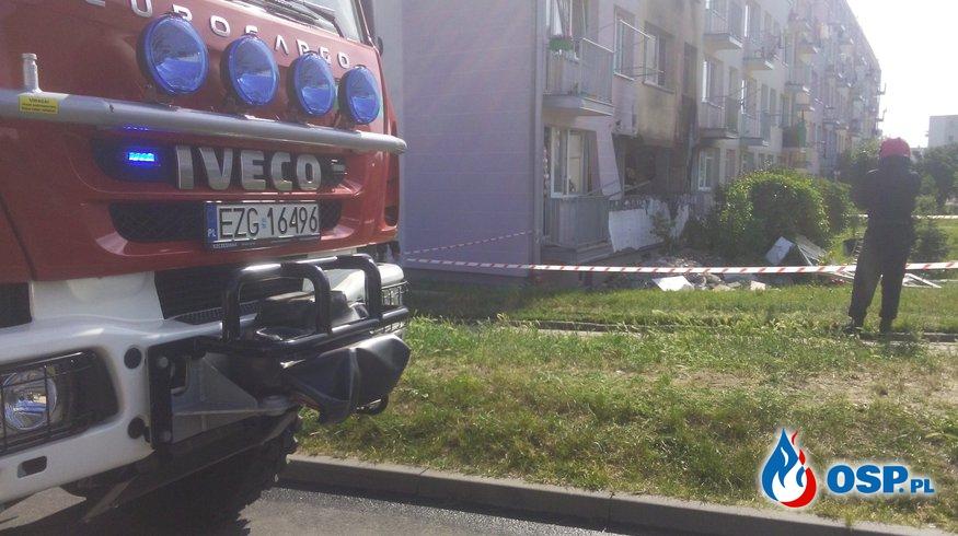 Wybuch butli z gazem w Ozorkowie OSP Ochotnicza Straż Pożarna