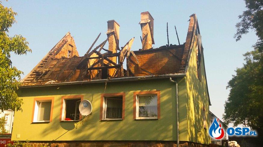 Templewo - ogień pojawił się po raz drugi OSP Ochotnicza Straż Pożarna
