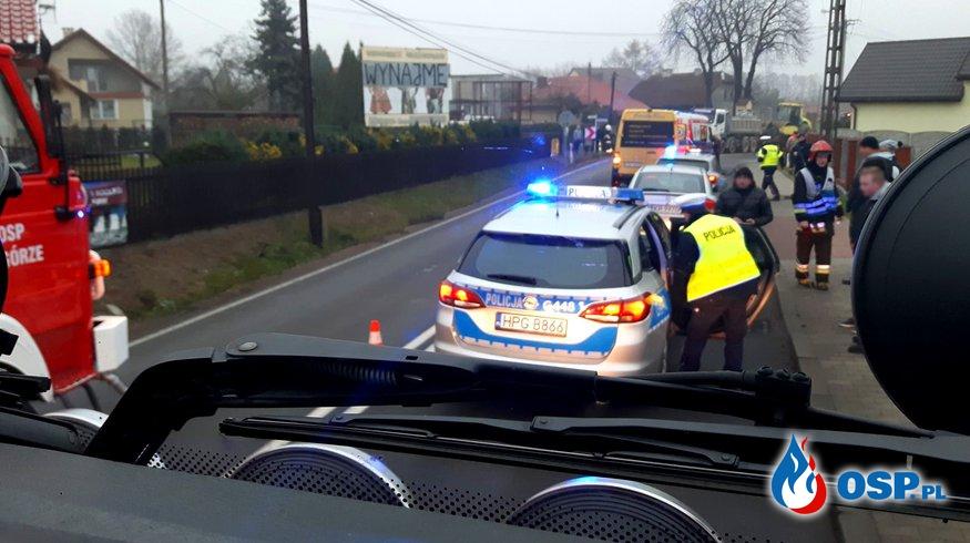 Potrącenie pieszego - ul. Zakopiańska w Babicach OSP Ochotnicza Straż Pożarna