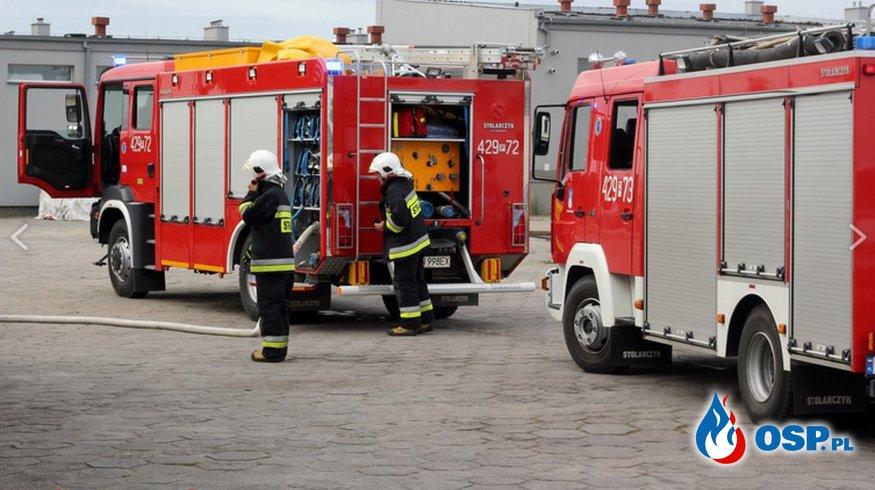 Poranny pożar w piekarni OSP Ochotnicza Straż Pożarna