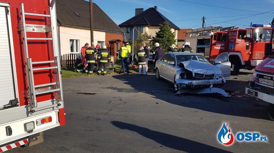 Groźny wypadek w miejscowości Pogórze OSP Ochotnicza Straż Pożarna