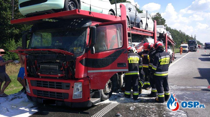 A4 - 241km kierunek Wrocław, Pożar samochodu ciężarowego OSP Ochotnicza Straż Pożarna