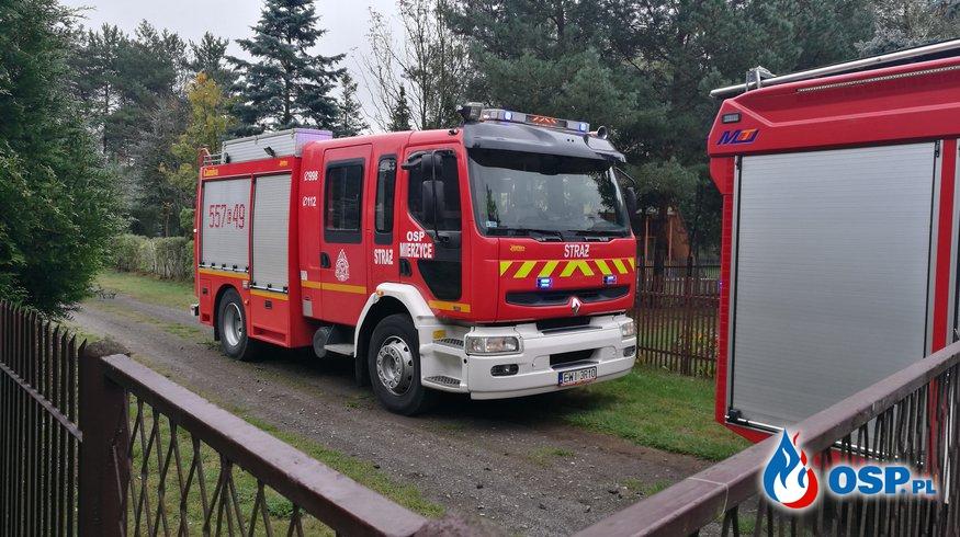 Pożar domku jednorodzinnego w Kamionie OSP Ochotnicza Straż Pożarna