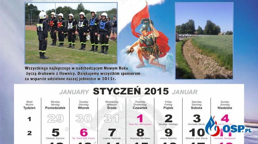 Kalendarz 2016 OSP Ochotnicza Straż Pożarna