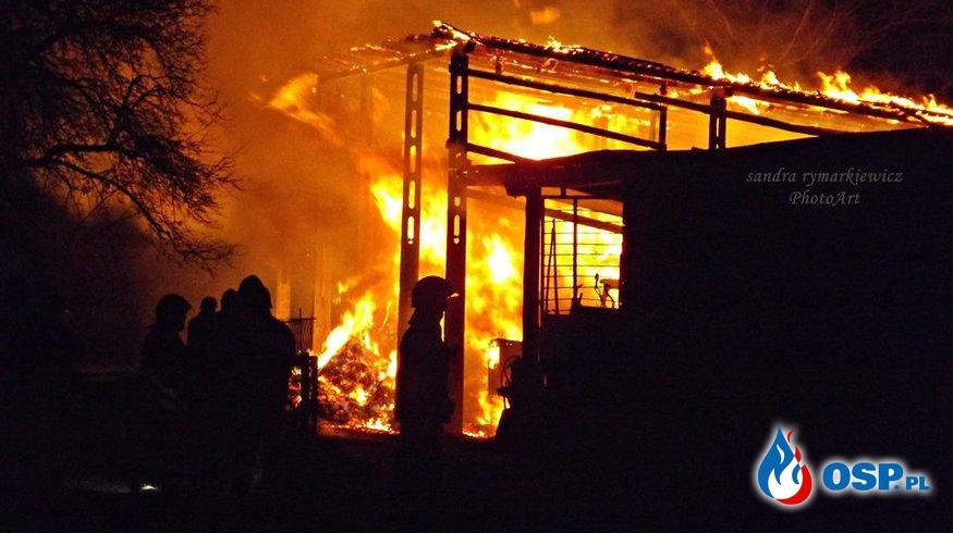 Pożar wiaty w Wilkowie OSP Ochotnicza Straż Pożarna