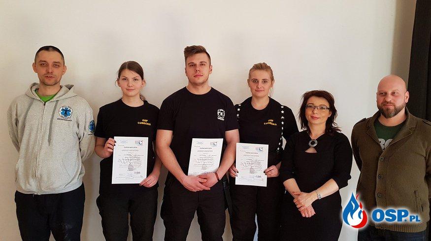 Ukończenie kursu Kwalifiowanej Pierwszej Pomocy naszych druhów z pozytywnym wynikiem ! OSP Ochotnicza Straż Pożarna