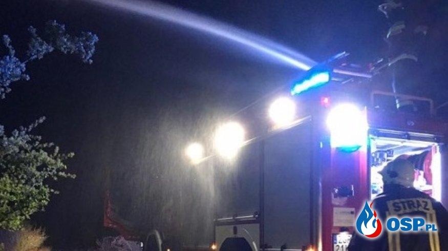 Pożar traw pomiędzy Krajnikiem Dolnym a Ognicą OSP Ochotnicza Straż Pożarna