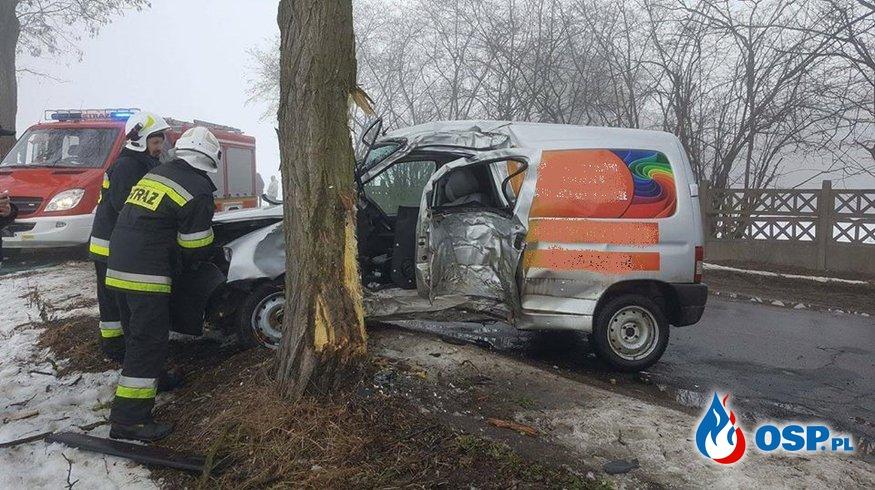 Wypadek drogowy Jelenia Głowa OSP Ochotnicza Straż Pożarna