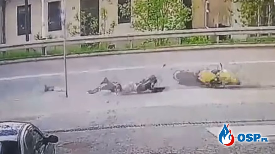 Dramatyczny wypadek motocyklisty. Kierowcy omijali go, nie udzielając pomocy! OSP Ochotnicza Straż Pożarna