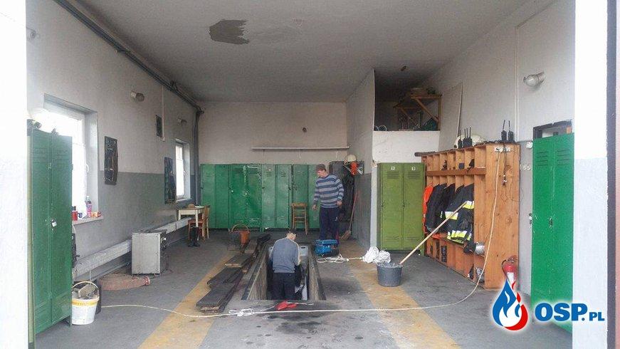 Zakończenie remontu garaży OSP Ochotnicza Straż Pożarna