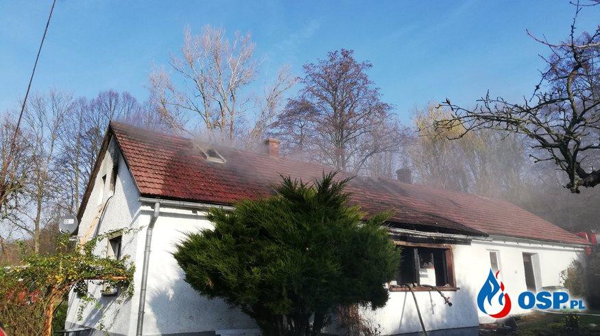 Pożar domu w miejscowości Pietrowice OSP Ochotnicza Straż Pożarna