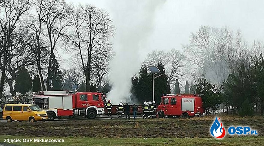 pożar kontenera w Mikluszowicach OSP Ochotnicza Straż Pożarna