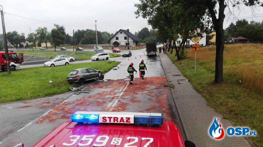 Wypadek Kolonii Borek.  02.09.2017r OSP Ochotnicza Straż Pożarna