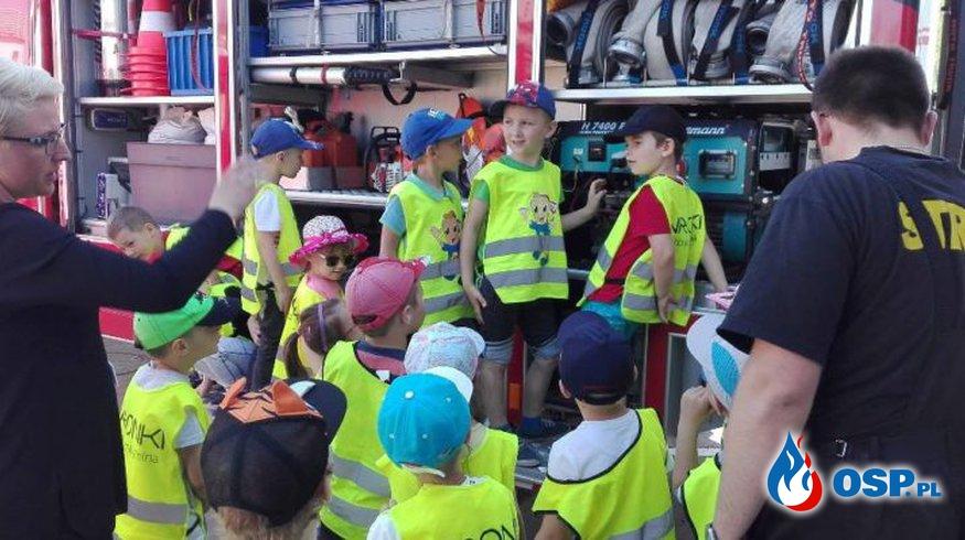 Amica – Wycieczka Leśnych Ludków z przedszkola Amica Kids w naszej strażnicy OSP Ochotnicza Straż Pożarna