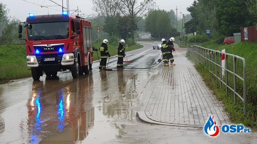 Majowe działania związane z silnymi deszczami OSP Ochotnicza Straż Pożarna
