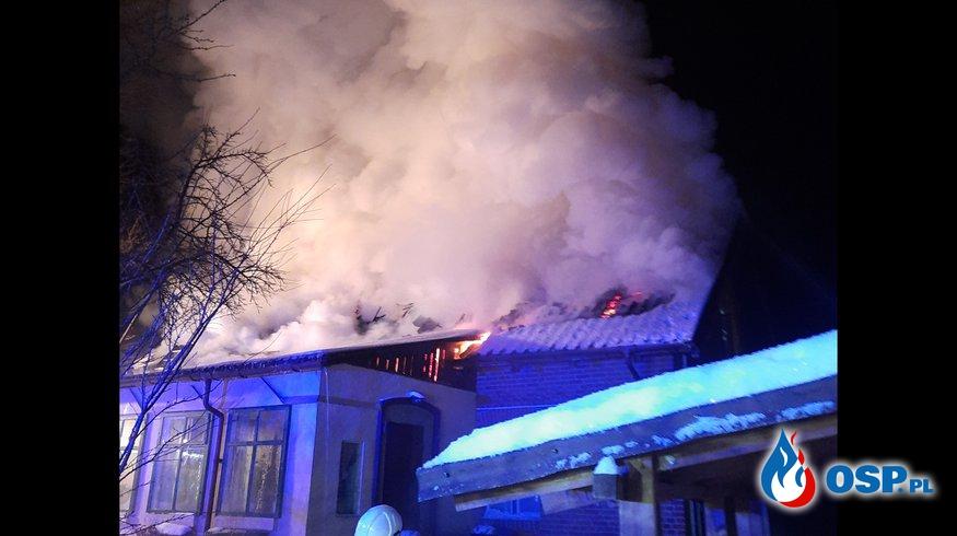 Pożar domu w Krutyńskim Piecku OSP Ochotnicza Straż Pożarna