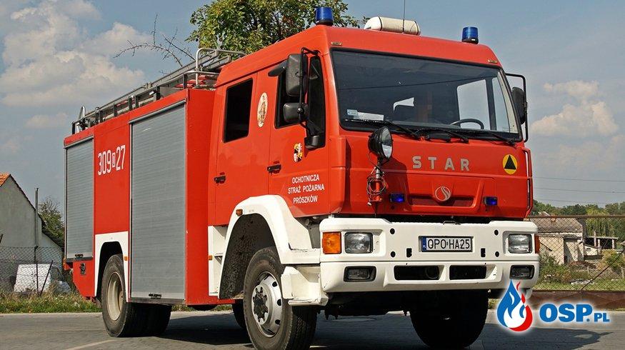 Sesja zdjęciowa wozów strażackich OSP Ochotnicza Straż Pożarna