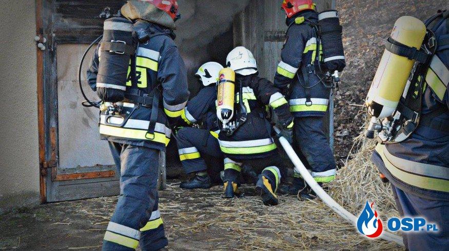 Ćwiczenia- pożary wewnętrzne OSP Ochotnicza Straż Pożarna