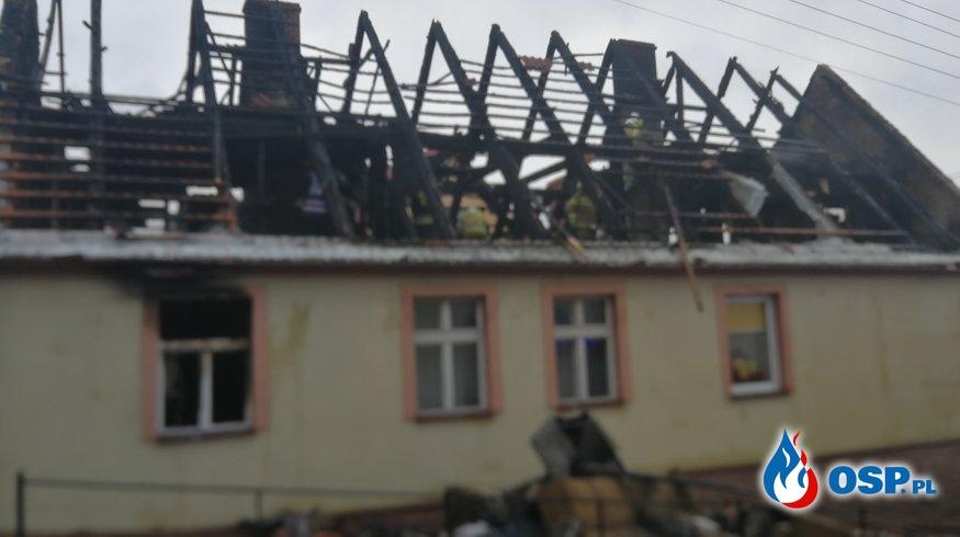 Pożar domu w Cedyni OSP Ochotnicza Straż Pożarna