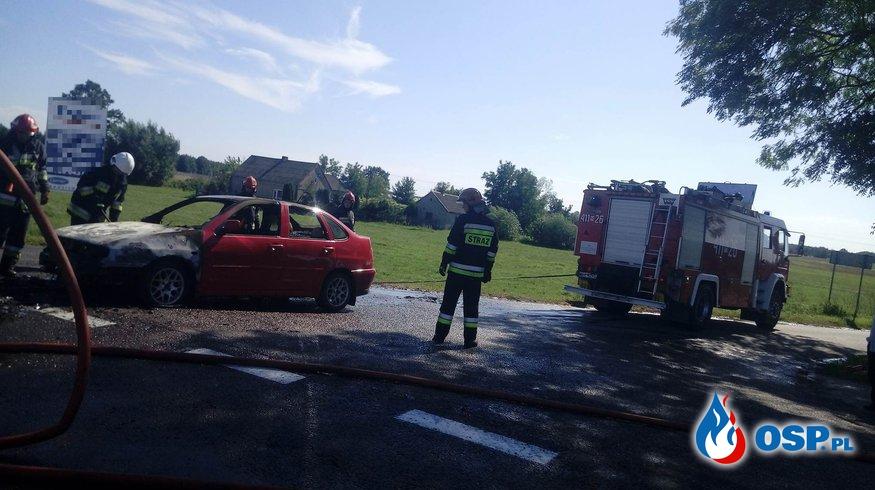 Pożar samochodu na DK7 OSP Ochotnicza Straż Pożarna