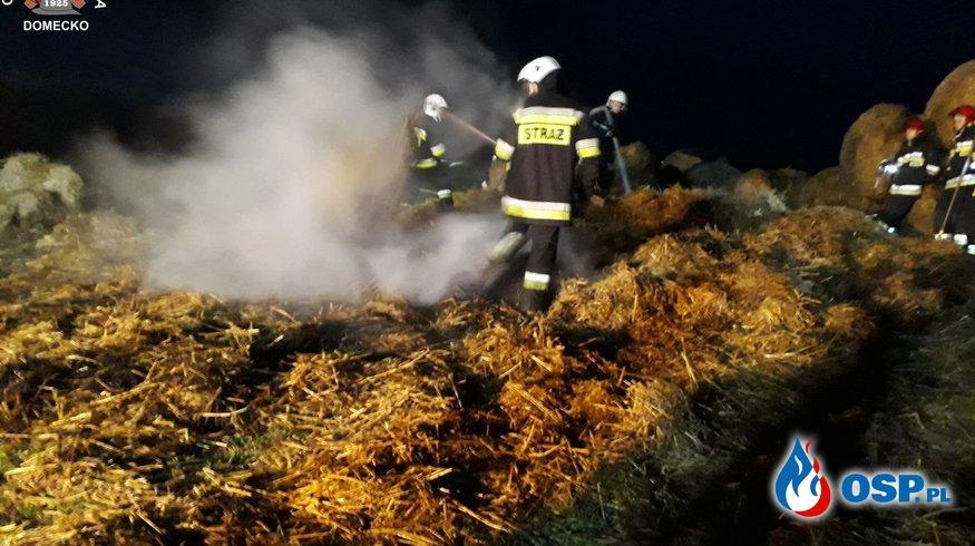 Pożar słomy w Złotnikach OSP Ochotnicza Straż Pożarna