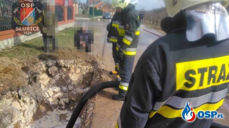 Pomoc w wypompowaniu wody OSP Ochotnicza Straż Pożarna