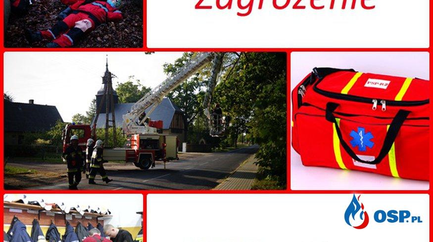 Zalana piwnica w budynku wielorodzinnym m.Bińcze OSP Ochotnicza Straż Pożarna