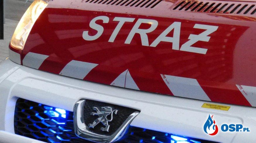 pożar chlewni w Ispini OSP Ochotnicza Straż Pożarna