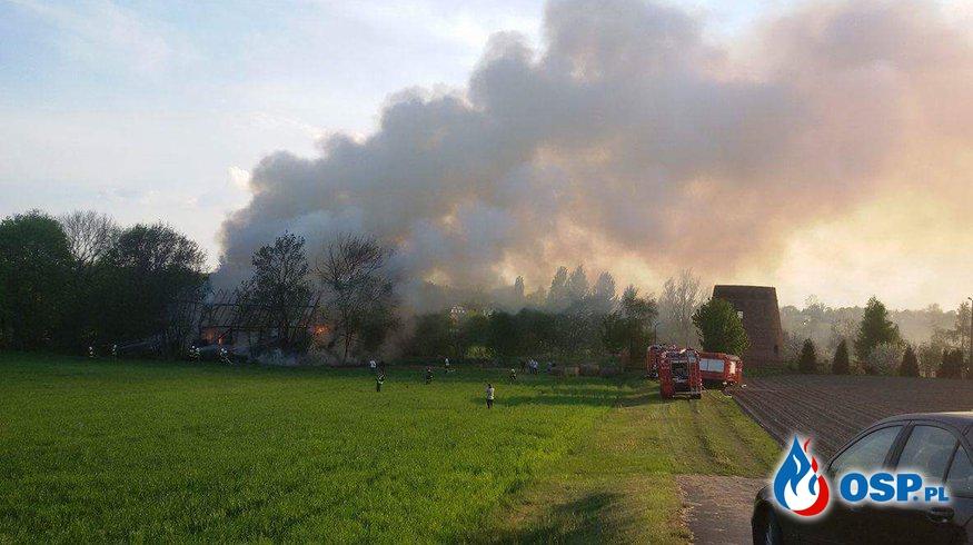 Pożar stodoły Jankowo Dolne !!! OSP Ochotnicza Straż Pożarna
