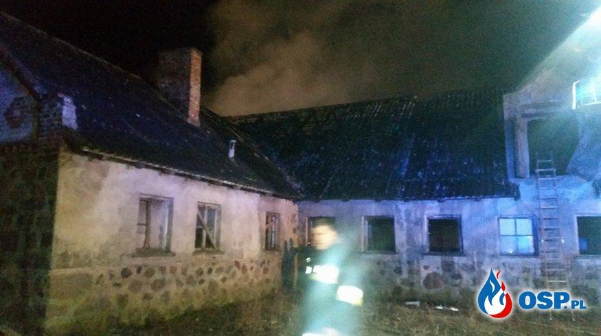 Spłonął budynek gospodarczy w Słuczu OSP Ochotnicza Straż Pożarna