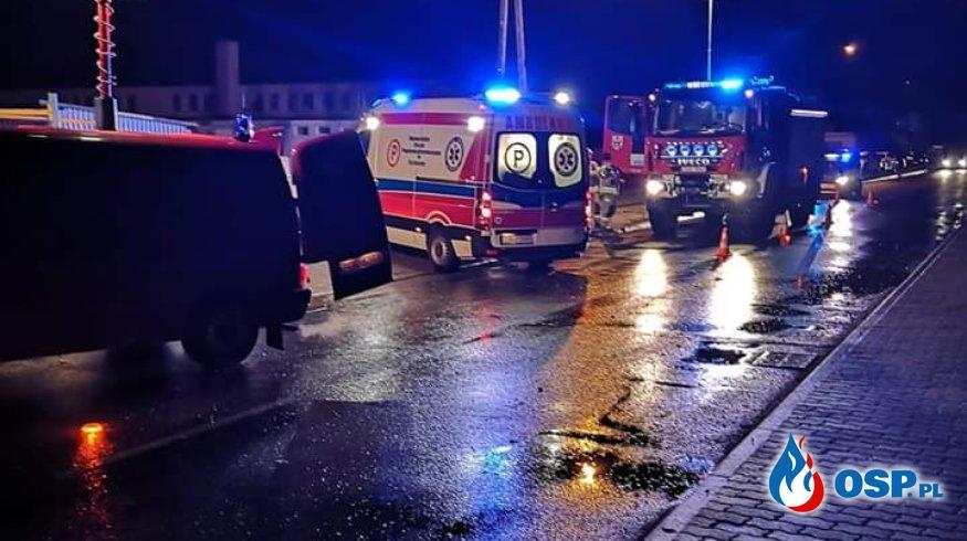 Wypadek na DW 125 Moryń OSP Ochotnicza Straż Pożarna