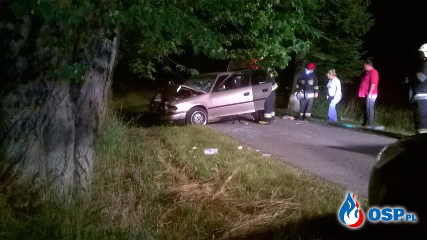 Wypadek na drodze Czarne Górne - Klecewo OSP Ochotnicza Straż Pożarna
