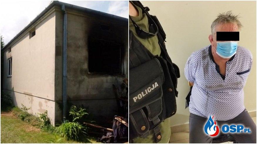 Podpalił dom, w której spała jego konkubina. Odpowie za usiłowanie zabójstwa. OSP Ochotnicza Straż Pożarna
