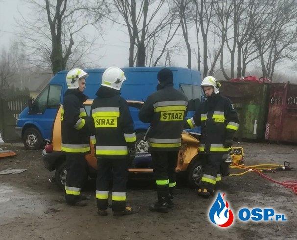 Ćwiczenia z zakresu ratownictwa technicznego OSP Ochotnicza Straż Pożarna