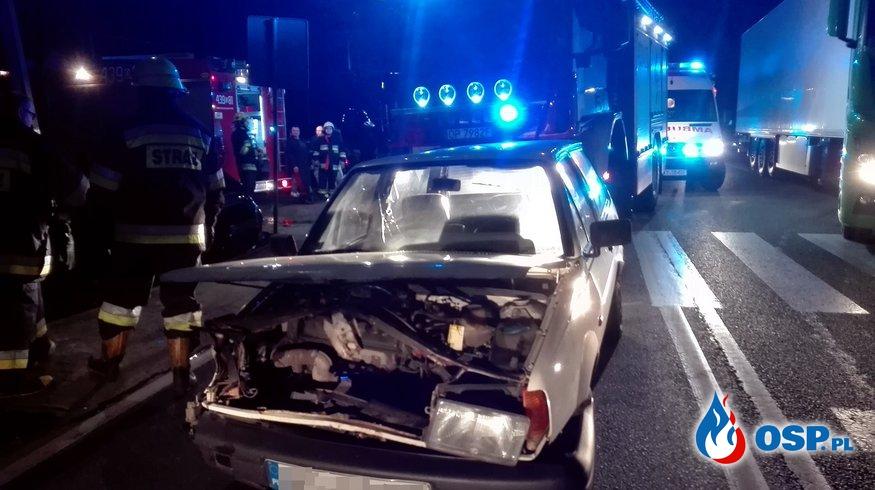 Wypadek na DK 11 w Biskupicach - dwie osoby poszkodowane OSP Ochotnicza Straż Pożarna