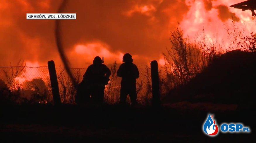 Dwa pożary wysypisk śmieci w ciągu kilku godzin. Podpalenie? OSP Ochotnicza Straż Pożarna