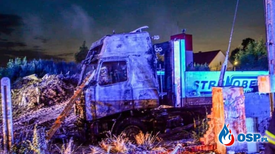 #11/2020 26.07.2020 Pożar Pojazdów Ciężarowych w Lewinie Brzeskim OSP Ochotnicza Straż Pożarna