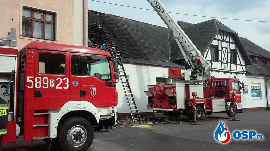 Pożar marketu w Orchowie OSP Ochotnicza Straż Pożarna