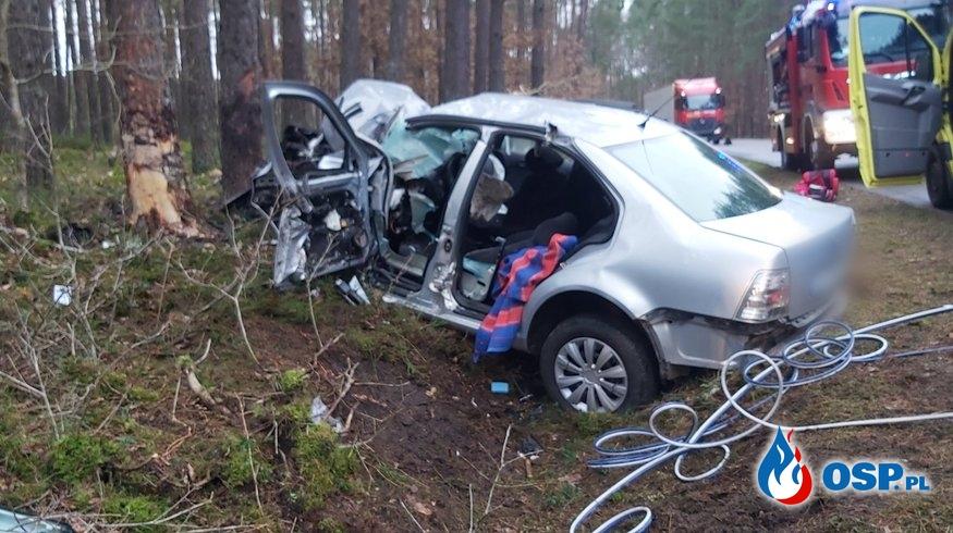 Wypadek 22-02-2020 Korzybie-Sławno OSP Ochotnicza Straż Pożarna