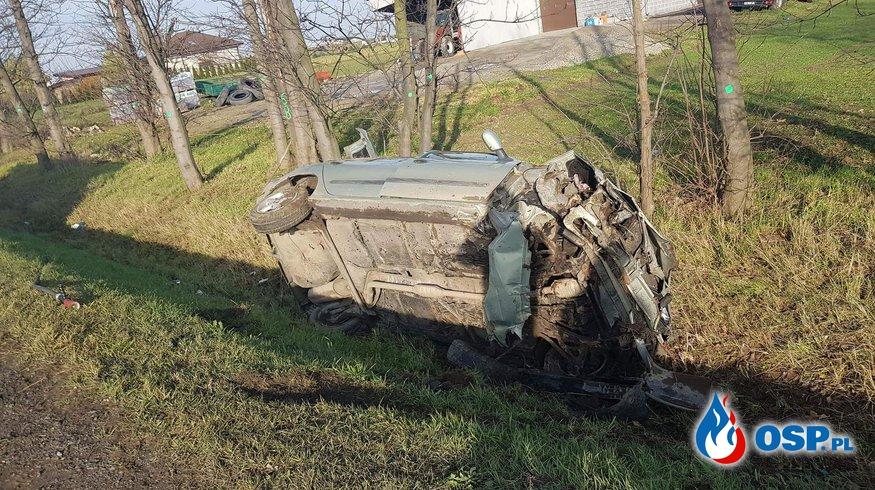 Wypadek w Słupi pod Kępnem OSP Ochotnicza Straż Pożarna