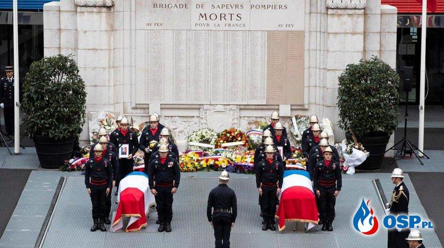 Francja pożegnała strażaków, którzy zginęli na służbie OSP Ochotnicza Straż Pożarna