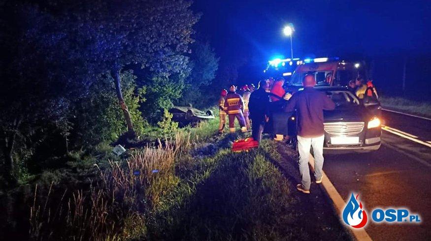 Wypadek komunikacyjny DK nr 15 Białe Piątkowo-Miłosław OSP Ochotnicza Straż Pożarna