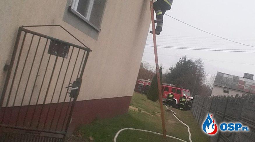 27.10.2018 - Pożar sadzy w domu jednorodzinnym w miejscowości Kapturów. OSP Ochotnicza Straż Pożarna