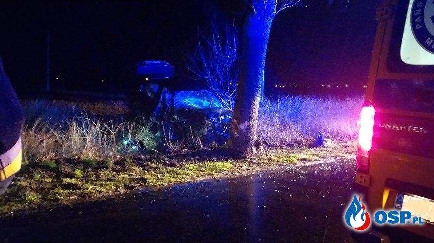 Wypadek samochodu osobowego w Orchowie OSP Ochotnicza Straż Pożarna