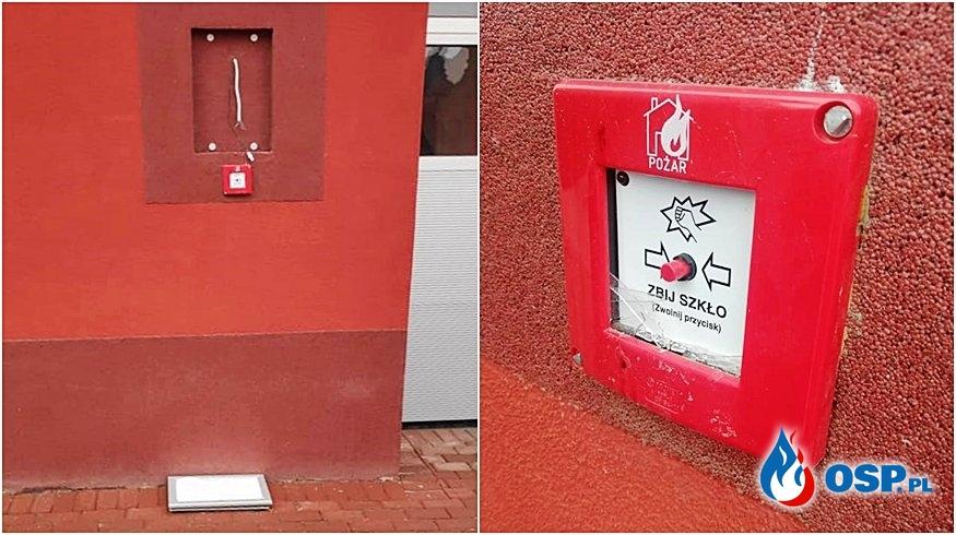 """Wandal zniszczył przycisk alarmowania w OSP. """"Mieszkańcy narzekali na syrenę"""". OSP Ochotnicza Straż Pożarna"""