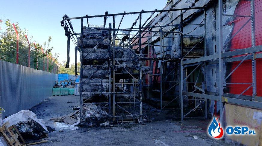 Pożar marketu budowlanego Majster w Głubczycach  OSP Ochotnicza Straż Pożarna