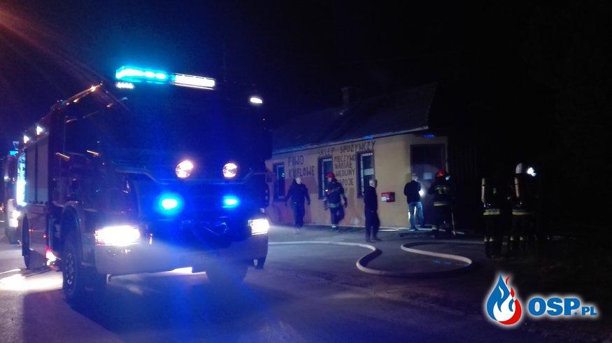 Pożar byłego sklepu w Czyżowicach OSP Ochotnicza Straż Pożarna