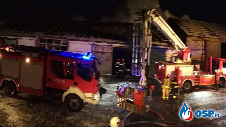 2019-01-23 godz. 6:45 pożar hali w Konarzewie OSP Ochotnicza Straż Pożarna